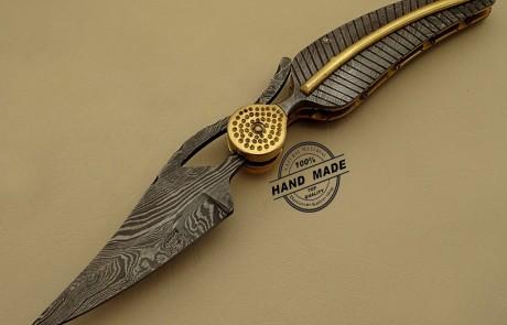 Professional Damascus Folding Knife
