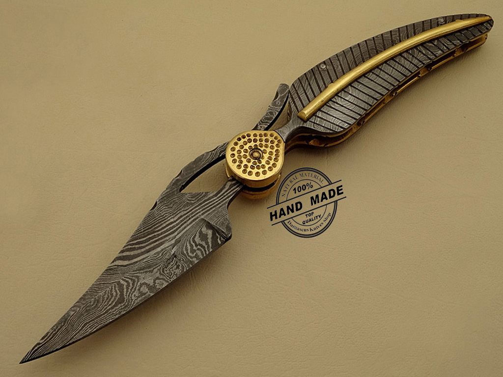 Professional Damascus Folding Knife