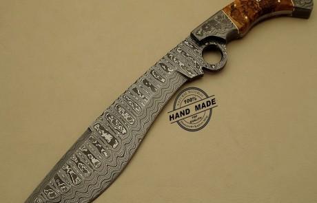 Damascus Finger Knife