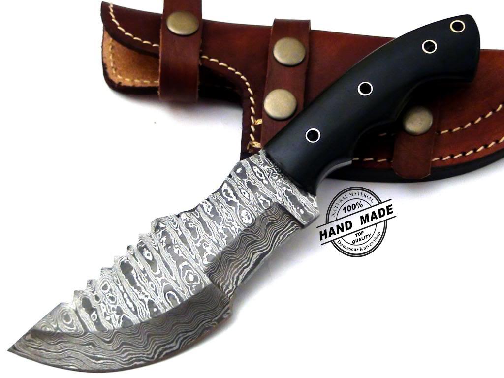 Regular Damascus Tracker Knife Custom Handmade Damascus Steel