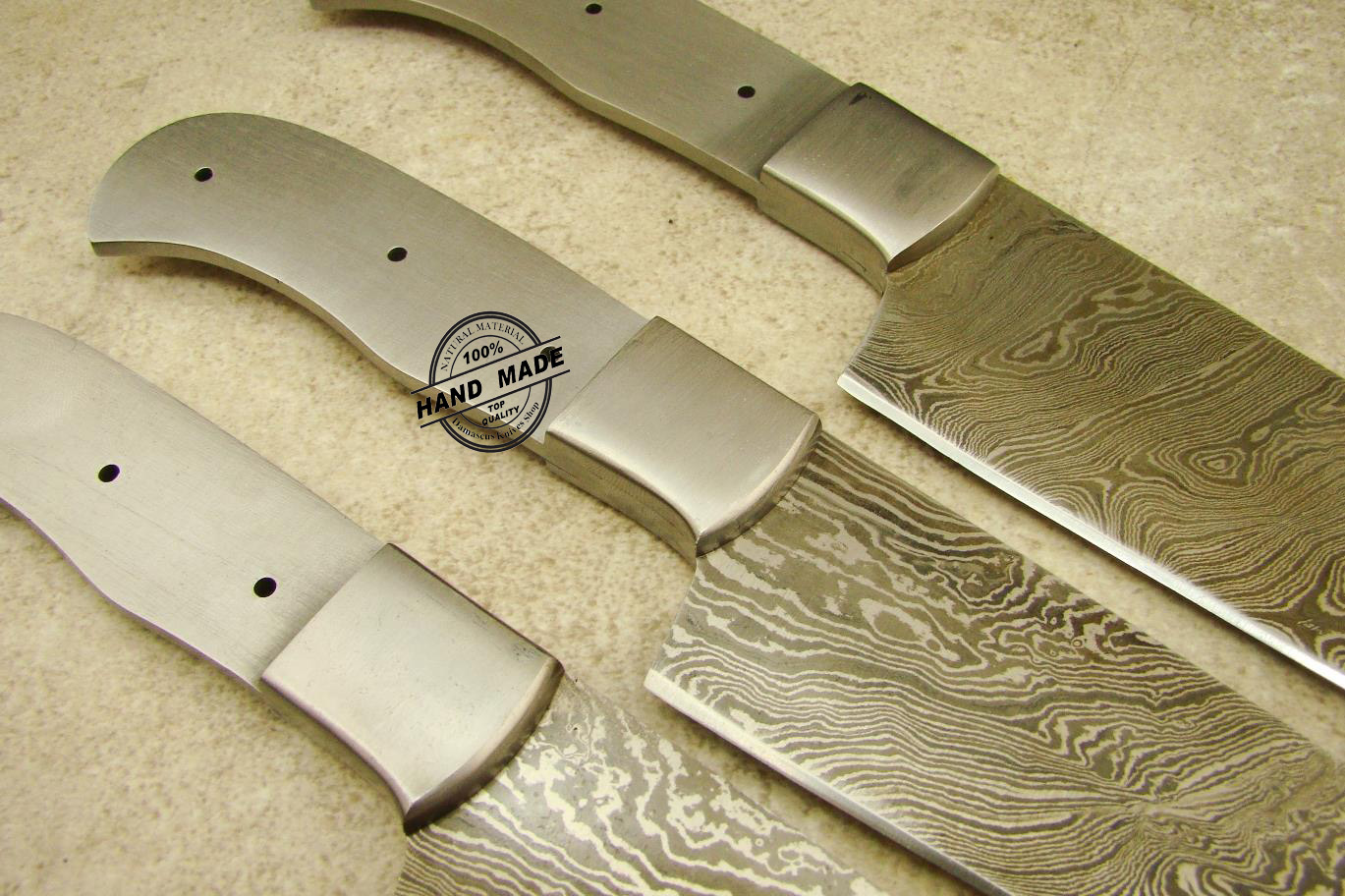 lot of 3 pcs professional chef knife blank blade custom