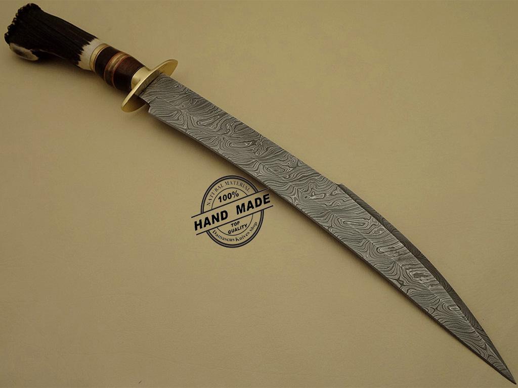 Best Damascus Sword Custom Handmade Damascus Steel Hunting