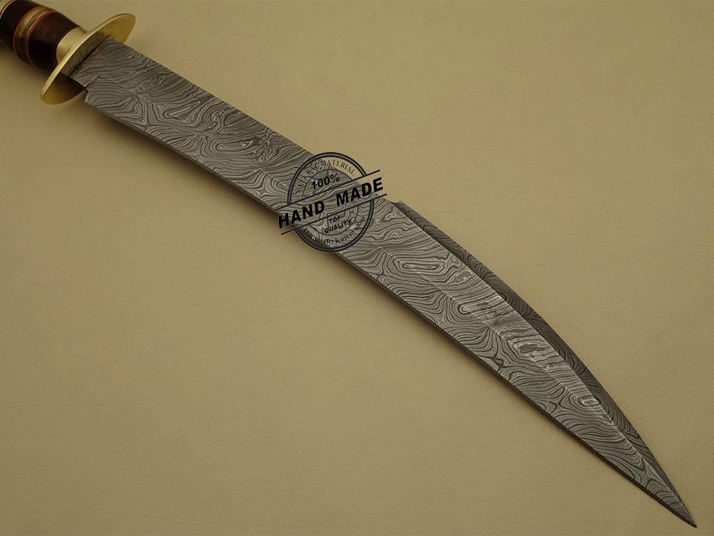 Best Damascus Sword Custom Handmade Damascus Steel Hunting ...