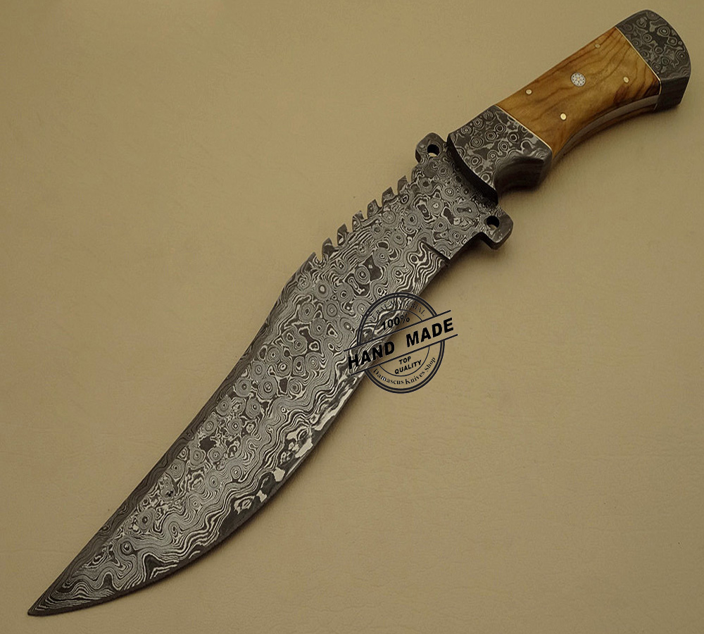 handmade knives damascus bowie knife custom handmade damascus steel 1235
