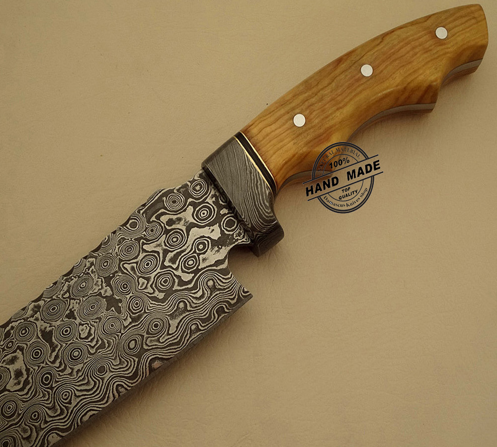 Custom Made Kitchen Knives: New Damascus Chef's Knife Custom Handmade Damascus Steel