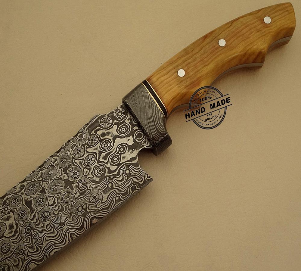 new damascus chef s knife custom handmade damascus steel