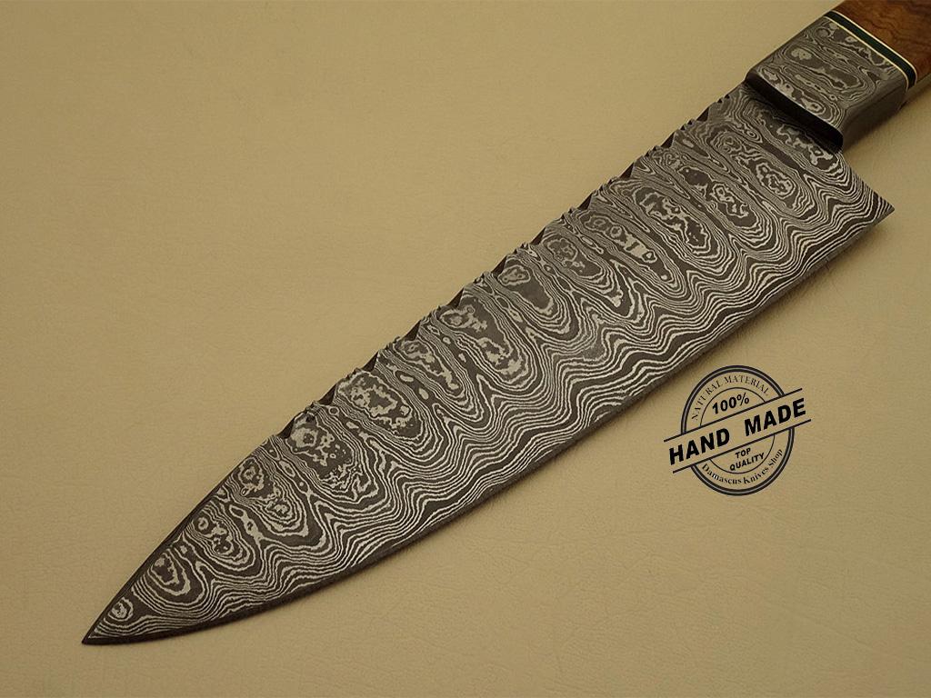 professional damascus kitchen chef s knife custom handmade