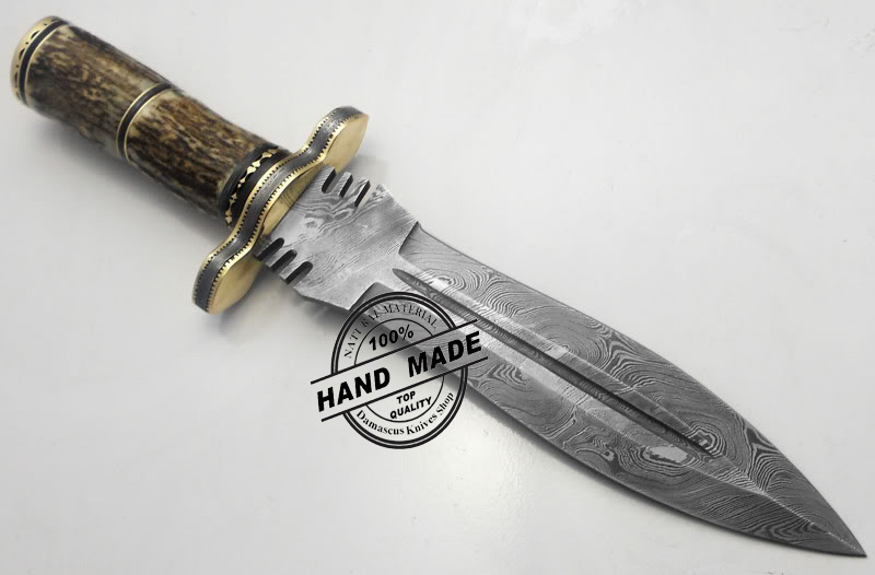 Best Damascus Dagger Knife Custom Handmade Manufactured