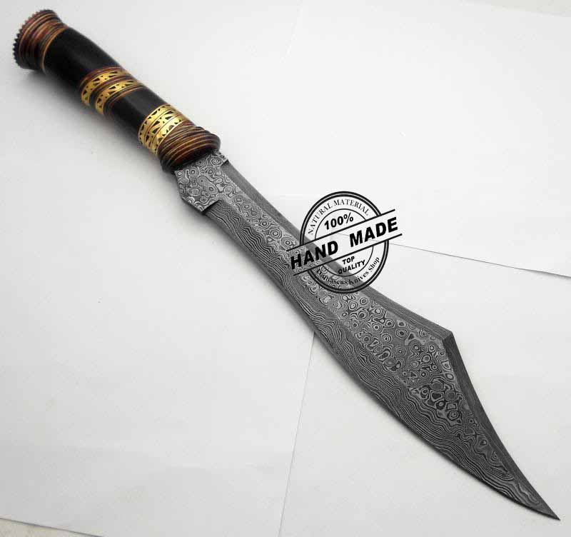 new damascus bowie knife custom handmade awesome art work