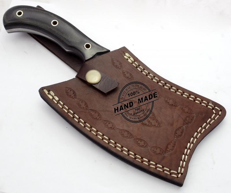 Cleaver: New Damascus Chef's Cleaver Knife Custom Handmade Damascus