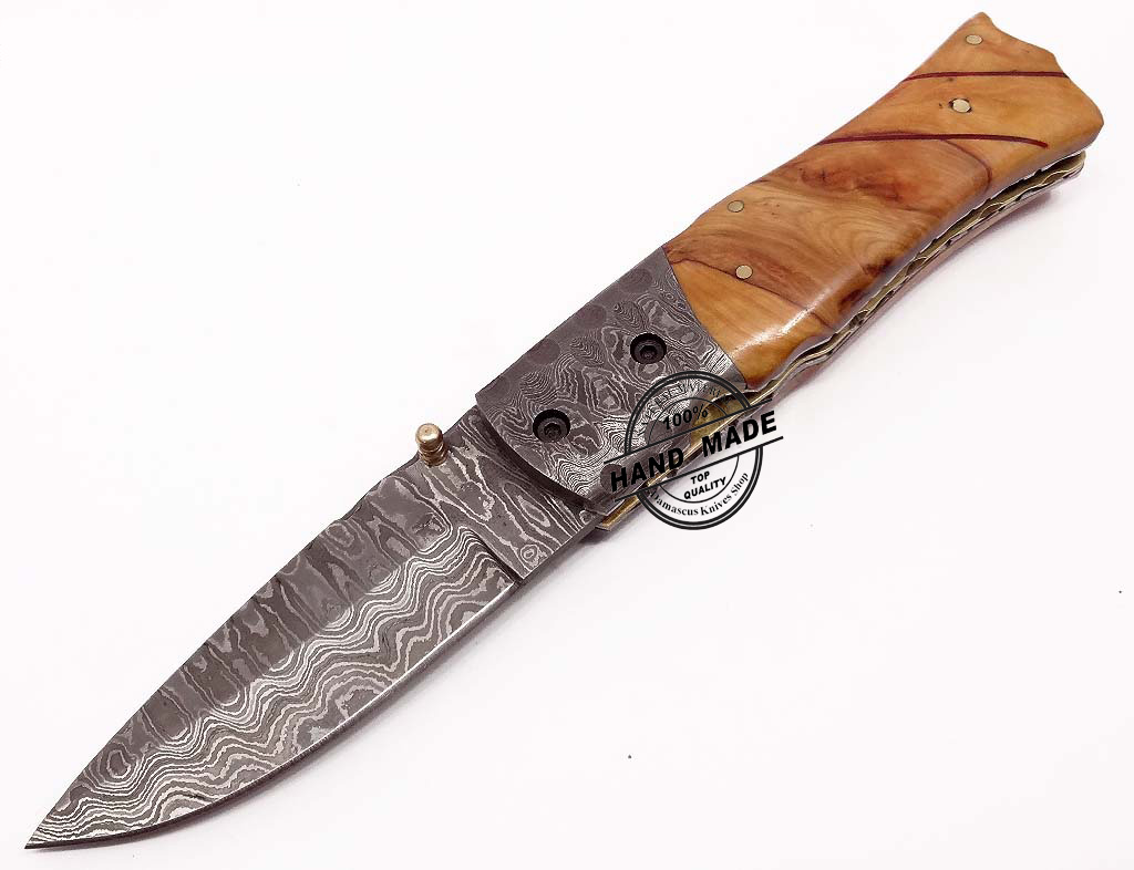 handmade knives beautiful damascus folding knife custom handmade damascus 4607