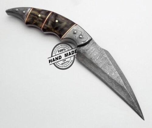 Damascus Karambit Skinner