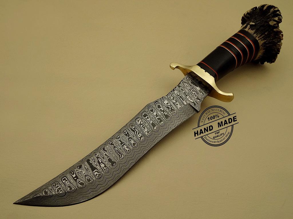 Damascus Dagger Knife Custom Handmade Damascus Steel Hunting
