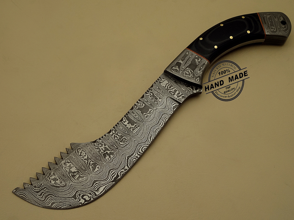 how to clean a damascus steel blade