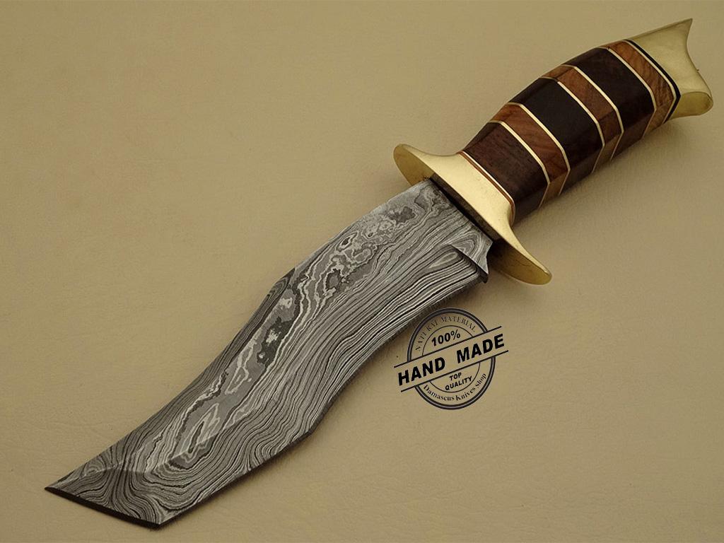 Damascus Tanto Knife Custom Handmade Damascus Steel