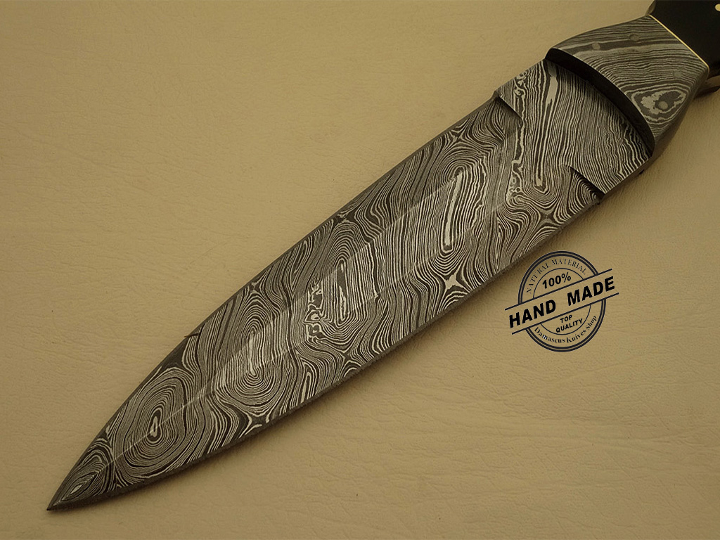 Professional Damascus Dagger Knife Custom Handmade
