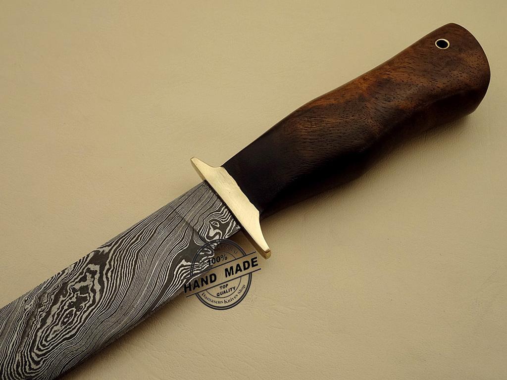 Damascus Hunting Knife Custom Handmade Damascus Steel Regular