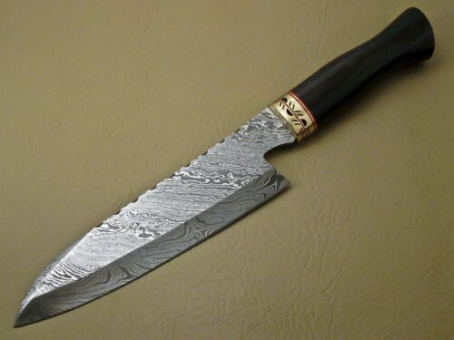 lot of 2 pcs damascus kitchen knife custom handmade damascus steel kitchen chef s knife. Black Bedroom Furniture Sets. Home Design Ideas