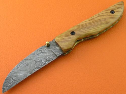 Damascus Folding Knife Liner Lock 494