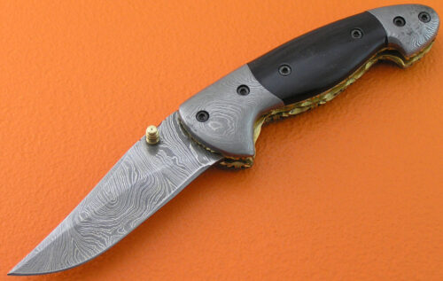 Damascus Folding Knife Liner Lock 507