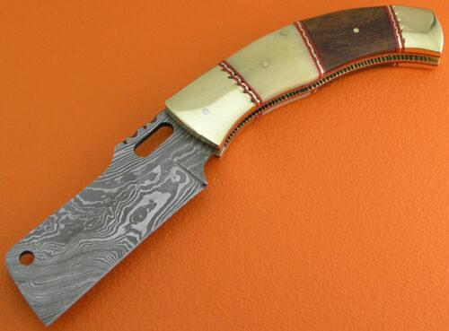 Damascus Folding Knife Liner Lock 556