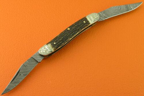 Damascus Folding Knife Liner Lock 561