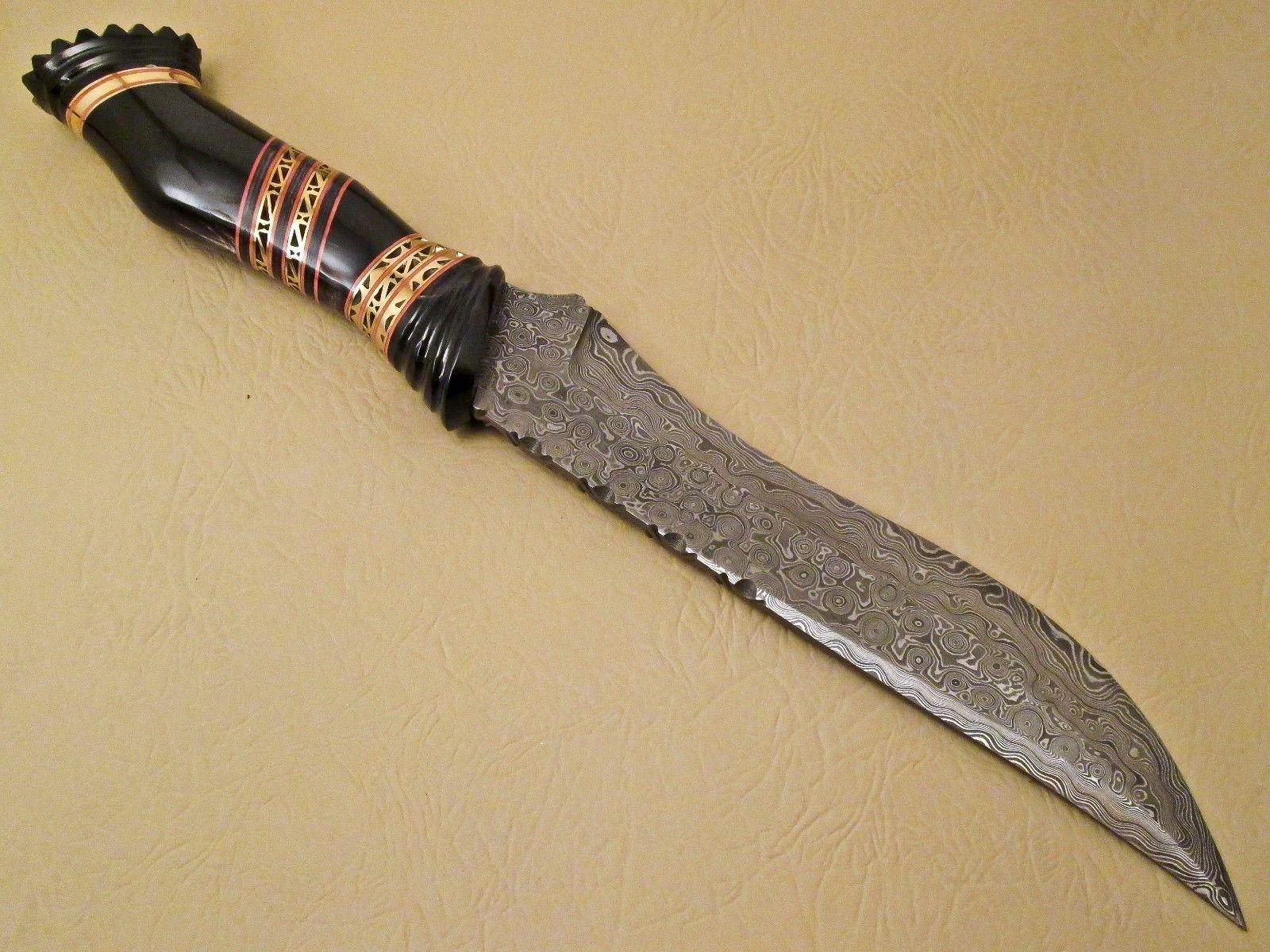 Amazing Damascus Bowie Knife Custom Handmade Damascus