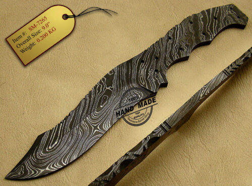 Damascus Blank Blade Knife 1033