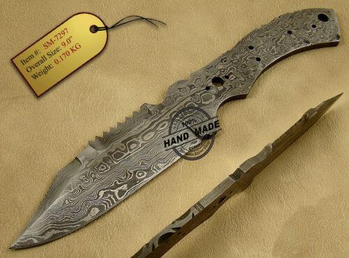 Damascus Blank Blade Knife 151