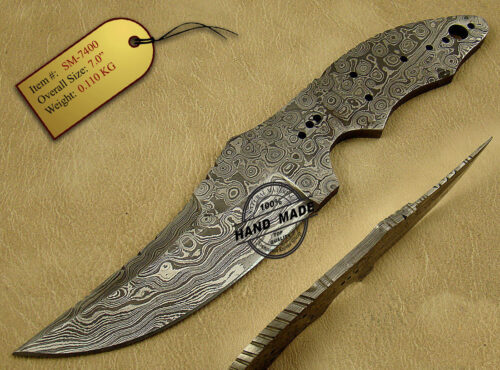 Damascus Blank Blade Knife 170
