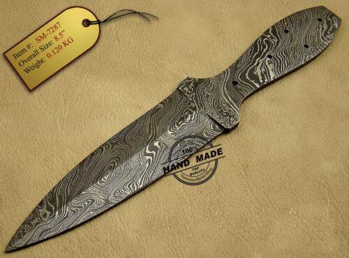 Damascus Blank Blade Knife 46