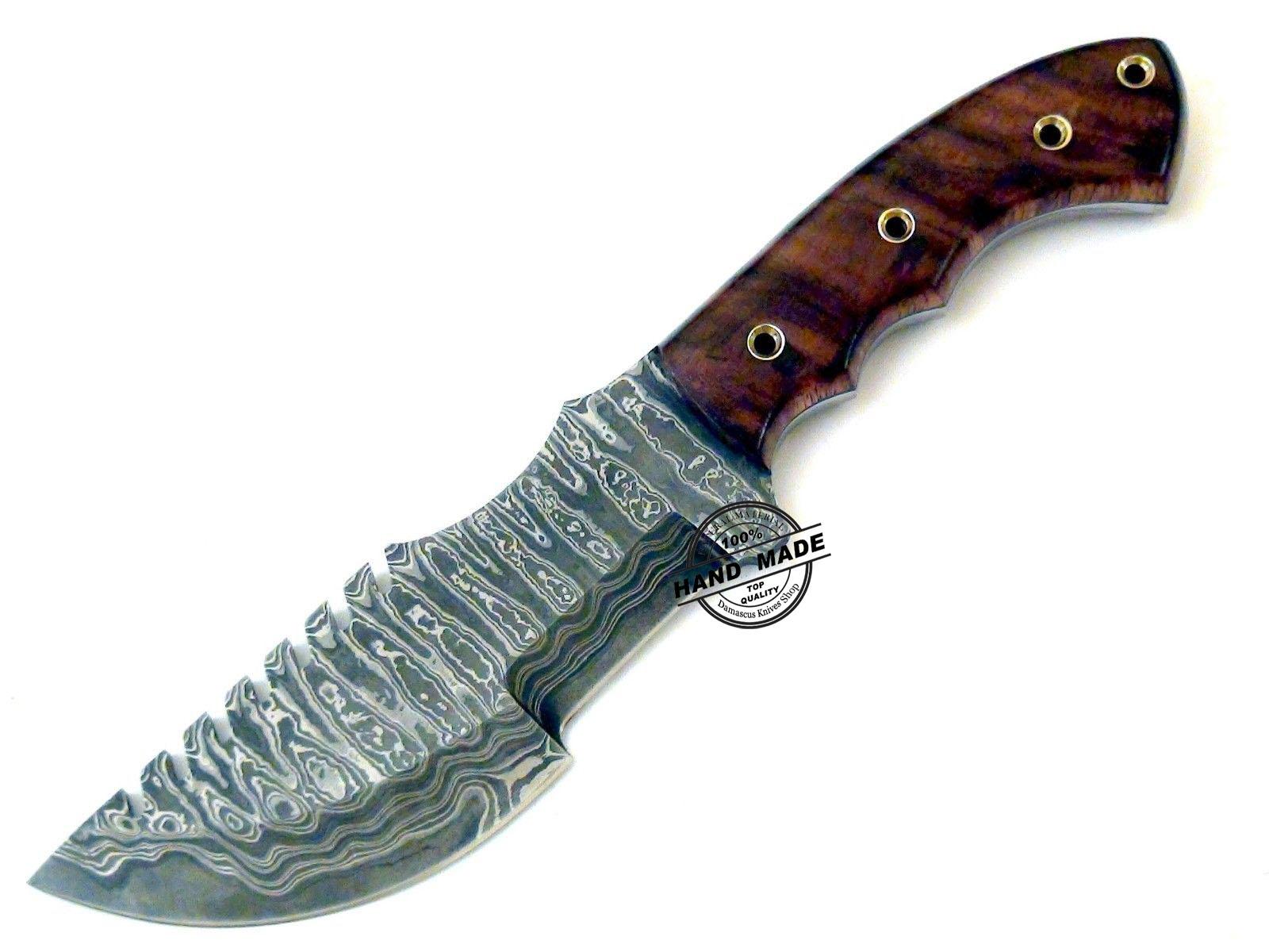 Damascus Tracker Knife Custom Handmade Damascus Steel Knife
