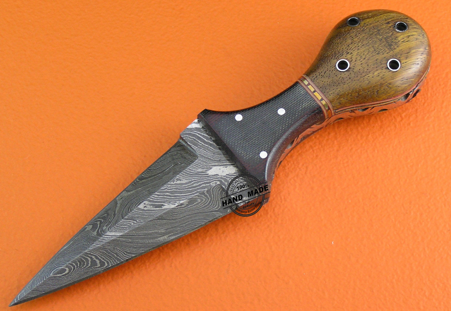 Boot Dagger Outdoor Sportsman Survival Damascus Hunting ...