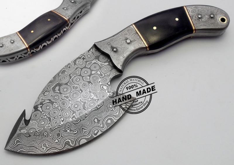 handmade skinning knives new damascus skinner knife custom handmade damascus steel 5705