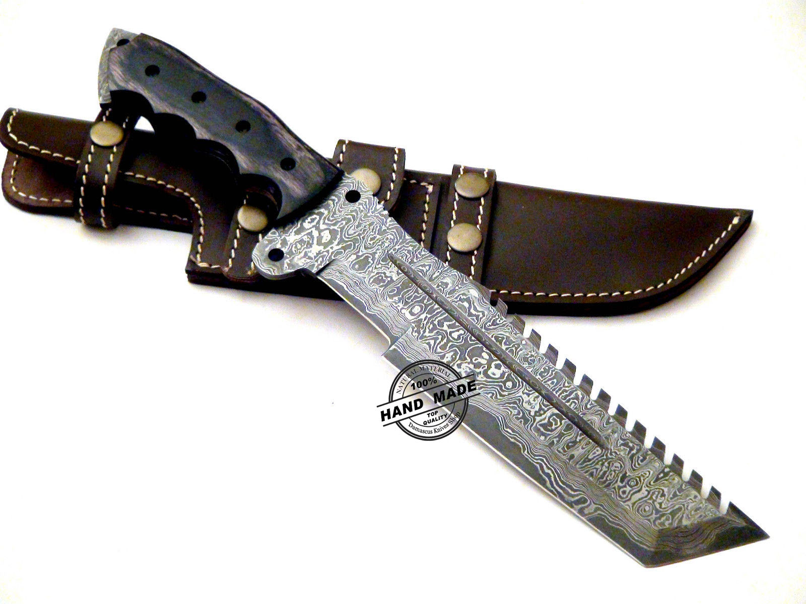 big sale damascus tracker knife custom handmade damascus steel