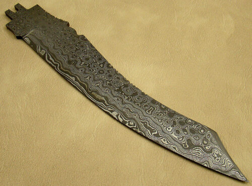 Blank Blade Damascus Bowie Knife