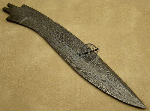 Damascus Blank Blade Knife 1040
