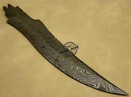 Damascus Blank Blade Knife 1070
