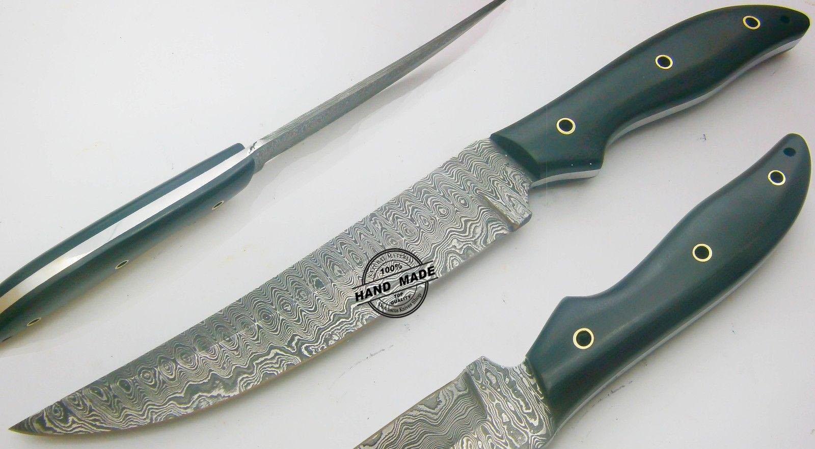 Best Damascus Kitchen Knife Custom Handmade Damascus Steel