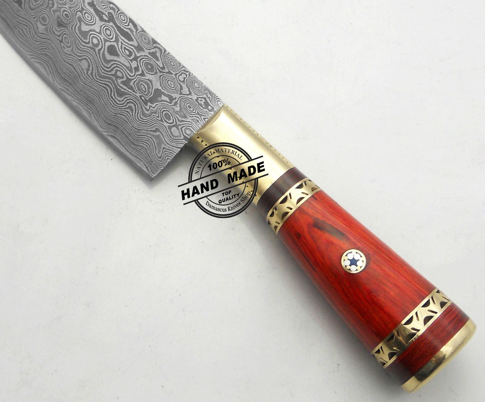 new damascus kitchen knife custom handmade damascus steel knife