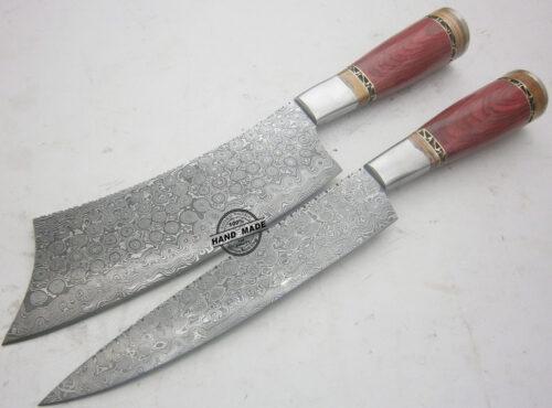 Damascus Kitchen Knife 0017