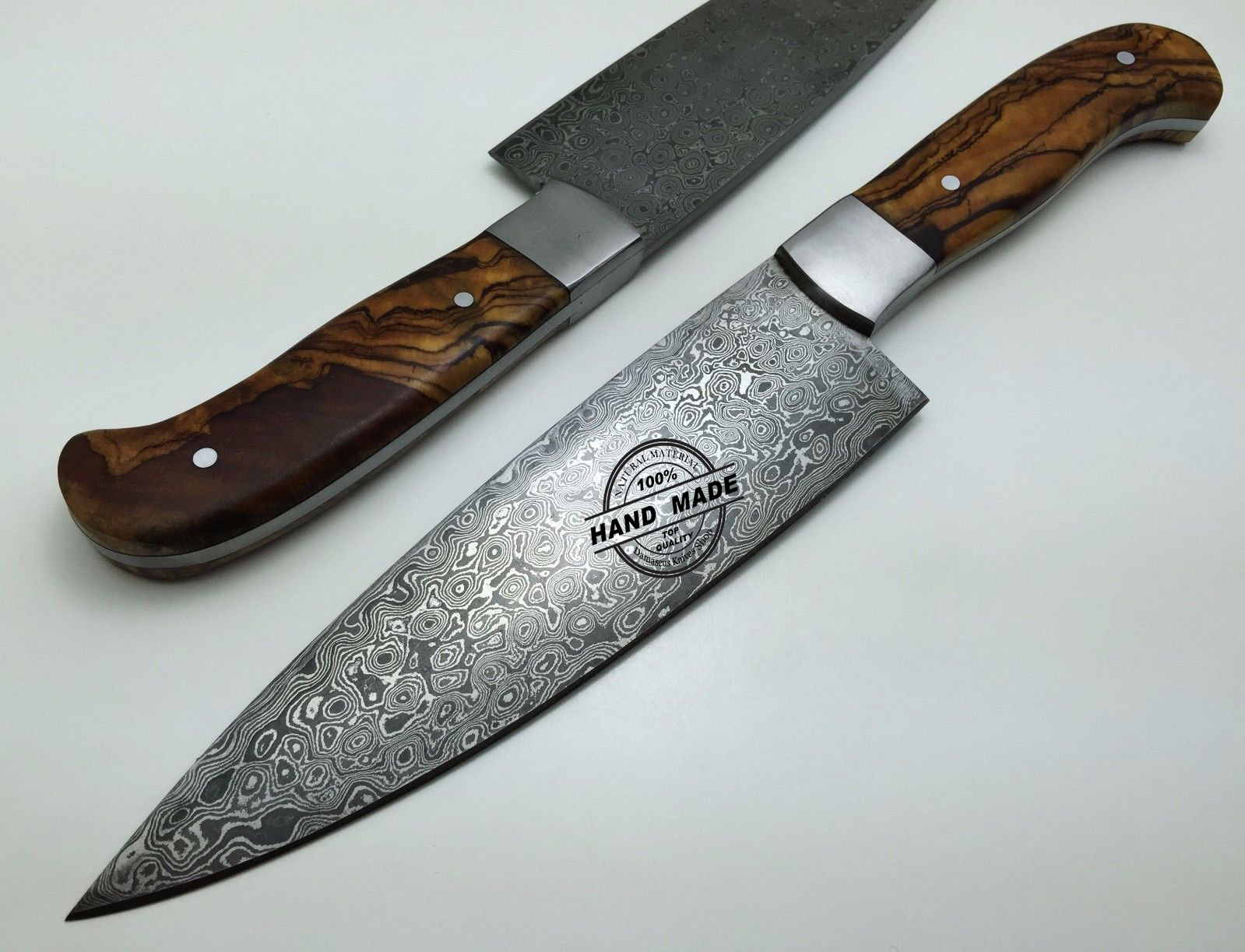 regular damascus kitchen knife custom handmade damascus steel4