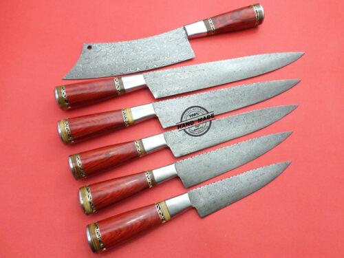 Damascus Kitchen Knife 0054
