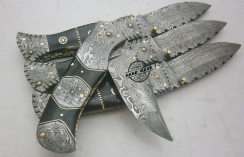 6 PCs Damascus Folding