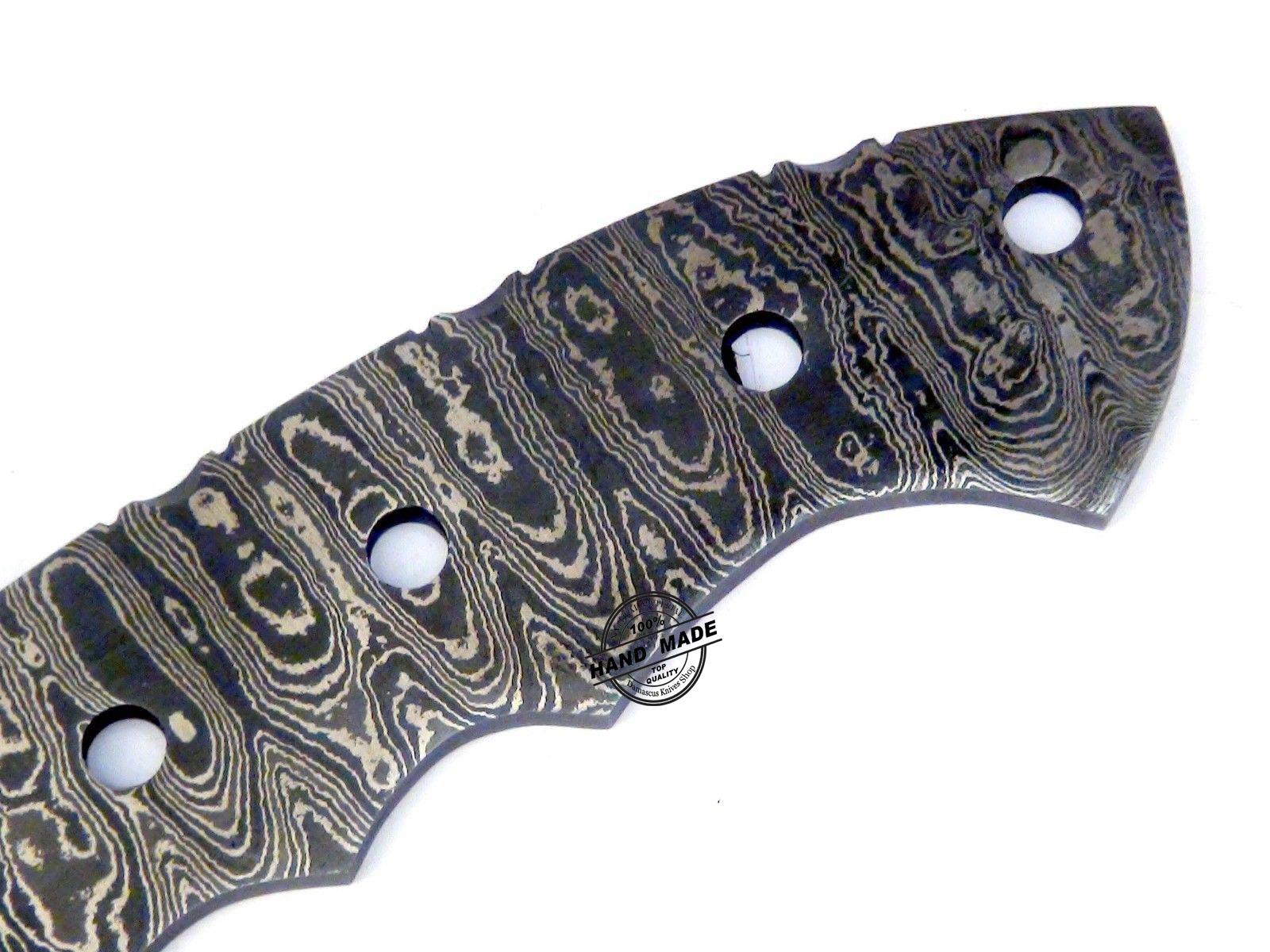 Blank Blade Damascus Tracker Knife