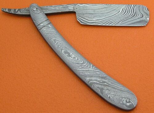 Damascus Folding Razor Knife 168