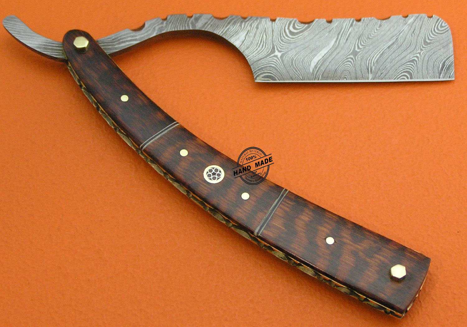 Damascus Razor Knife