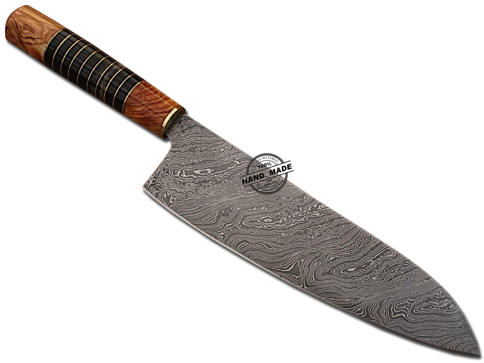 damascus chef knife custom handmade damascus steel kitchen knife. Black Bedroom Furniture Sets. Home Design Ideas