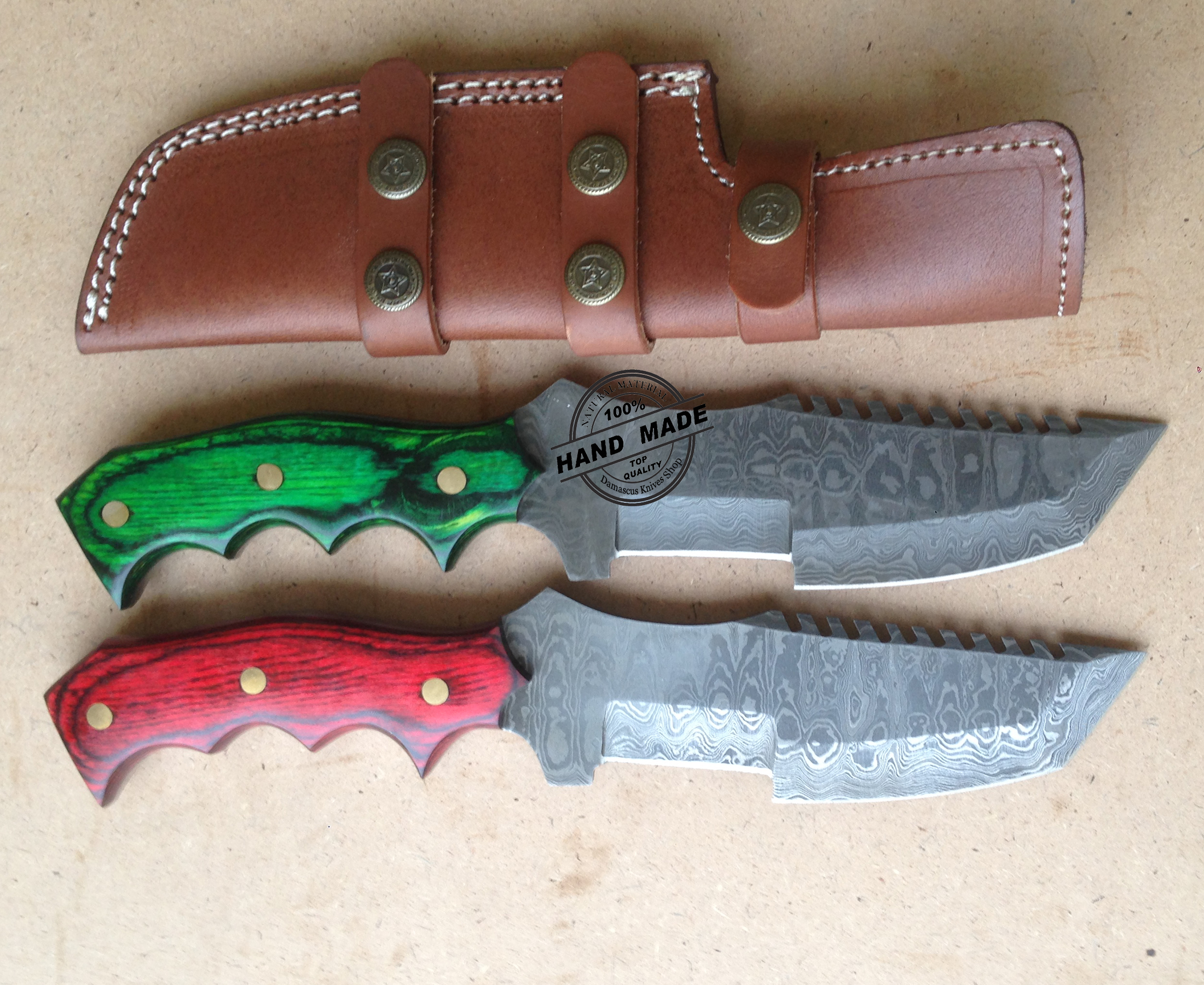 Damascus Tracker Knives