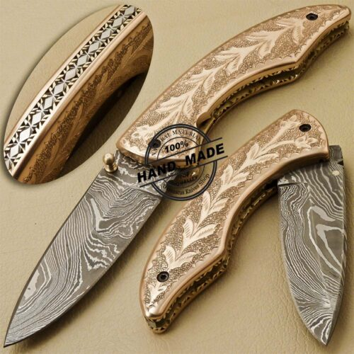 Engraving Damascus Folding